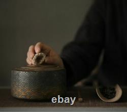 Japanese Ceramic Tea Caddies Vintage Porcelain Tea Canister Storage Tea Or Food