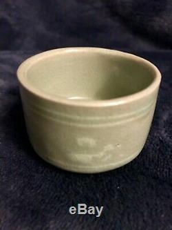 Korean Porcelain Celadon Sake Set By National Treasure Yu Hegan (1894-1993)