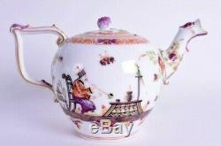 Large 18th Century Meissen Porcelain Chinoiserie Tea Pot Extremely Rare Mark