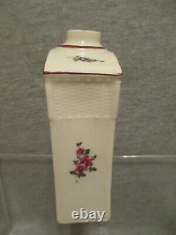Ludwigsburg Porcelain Floral Tea Caddy 18th C