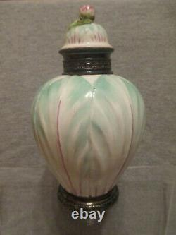 Meissen Porcelain, Cabbage Leaf, Teedose Tea Caddy, 18thC Very Rare