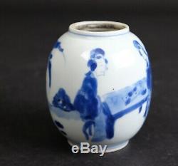 Nr2 Antique Chinese porcelain Teacaddy, Kangxi 1662-1722
