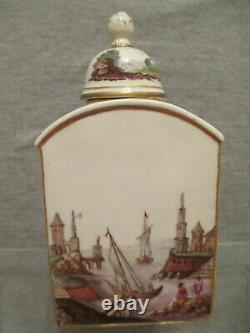 Nymphenburg Porcelain Teedose Tea Caddy, 1780 Very Rare