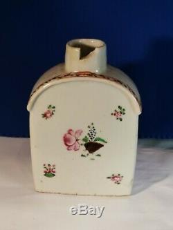 Original 18th Century Qianlong Chinese Export Porcelain Tea Caddy