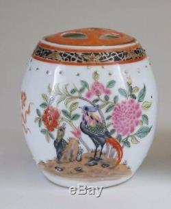 Pair China Chinese Export Porcelain Austrian Market Armorial Tea Caddies ca 1920