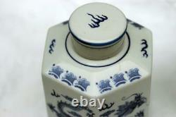 Pair Chinese Dragon Porcelain Qianlong Tea Caddies