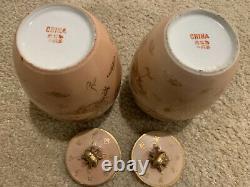Pair Of Antique Chinese Porcelain Tea Caddies, circa 1910, perfect condition