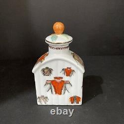 Porcelain Chinese Tea Caddy 3.5x 2x 6.25