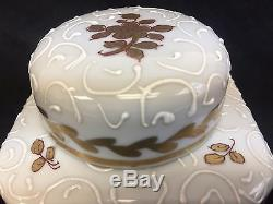 Porcelain Enamel Gilt Made In France French Tea Caddy Jar Container Wow