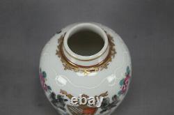 Porcelaine De Paris Chinese Export Style Hand Painted Armorial Tea Caddy