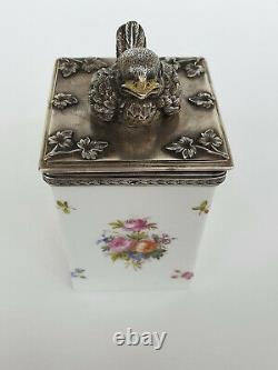 Silber, Porzellan Teedose I. Chlebnikov-Silver, porcelain tea caddy I. Chlebnikov