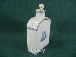 Spode Blue Trade Winds Pattern W146 Tea Caddy with Lid