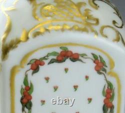 Stunning Antique European Porcelain Floral Roses Gilt Tea Caddy Bottle