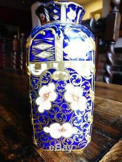 Superb Edwardian Royal Crown Derby Imari Porcelain Tea Caddy 6299