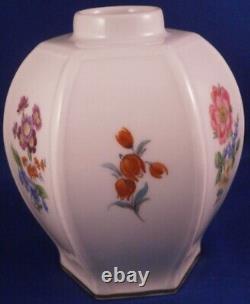 Superb Meissen Porcelain Hexagonal Design Lidded Tea Caddy Jar Porzellan Teedose