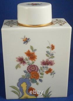 Superb Meissen Porcelain Kakiemon Design Lidded Tea Caddy Jar Porzellan Teedose