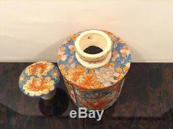 Tea Caddy Imari Arita Porcelaine Hichozan Shipo Zo() Japon 1860-80