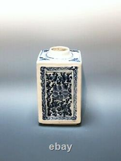 Tea Jar. Chinese Blue and White Porcelain. Qing 18th Century. 5 Height