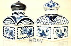 VTG Porcelain 2 Tea Caddies /Trinket Boxes/ made in Russia, Signed, 1993