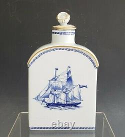 Vintage Spode Porcelain Blue Trade Winds W146 Tea Caddy