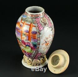 1735-1796 Qianlong Qing Chinese Fine Porcelaine Tea Caddy Famille Rose 5.6