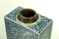 ^ 1800 Antique Japonais Ensemble De 2 Porcelaine Bleu Et Blanc Thé Caddy Bouteilles Signée