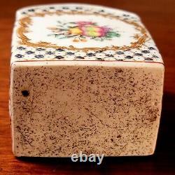 1820s Française Élevée Émail Porcelaine Peinte Caddy