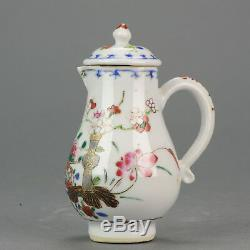 18c Antique Chinois Porcelaine Jug Chine Famille Rose Antique