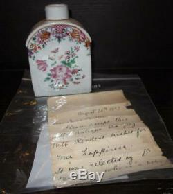 18ème Siècle Chinois D'exportation À Thé En Porcelaine Caddy Provenance Lettre Angela Brésil