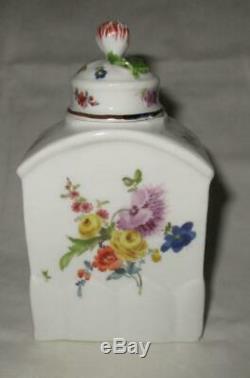 18ème Siècle Meissen Allemande À Thé En Porcelaine Caddy