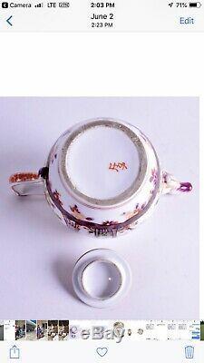 18ème Siècle Porcelaine De Meissen Chinoiserie Tea Pot Mark Rarissime