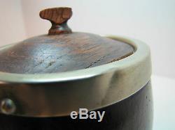 19c Antique Victorian Tea Caddy Boîte Epns Bois Porcelaine Ornement Arts Décoratifs
