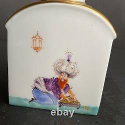 19ème Siècle Meissen Porcelaine Thé Caddy 2,5x 1,5x 3