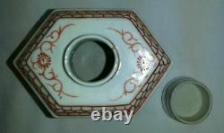 20e Siècle Chinois Émaillé Porcelaine Thé Caddy