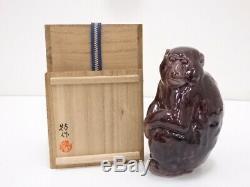 4615305 Porcelaine Japonaise Kutani Ware Singe Figurine Par Yasokichi Tokuda & Yu