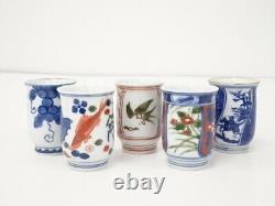 4706277 Porcelaine Japonaise Arita Ware Sake Cup Ensemble De 5 Genemon