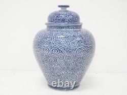 4840023 Antique Japonais Imari Edo Era / Jarre / Porcelaine Bleue Et Blanche