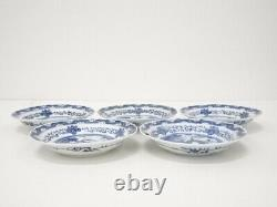 4853346 Antique Japonais Imari / Edo Era Plate Set Od 5/ Porcelaine Bleue Et Blanche