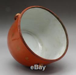 5.5 Rouge Chinoise Glaze Porcelaine Main Dessin Pin Grue Boîte À Thé Pot Paire