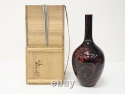 5048165 Porcelaine Japonaise Kutani Ware Vase À Fleurs Simples Par Tamekichi Mitsui