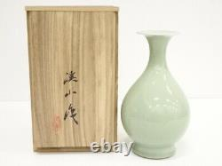 5134157 Vase À Fleurs Céladon En Porcelaine Japonaise Par Keizan Kato
