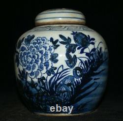 6.4 Vieux Pot De Pot De Pot De Thé Blanc Bleu Chinois