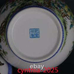7rare Chinese Porcelaine Qing Qianlong Gilt Famille Rose Fleur Oiseau Tea Caddy