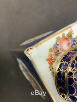 À Thé En Porcelaine Meissen Caddy Avec Couvercle Original