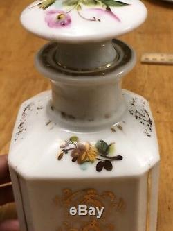 Ancien Empire Paris À Thé En Porcelaine Caddy & Stopper Cover Début Du 19e S