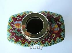 Antik Grosse Teedose Porzellan Silber Dopel Porcelain Samson Tea Caddy Antique