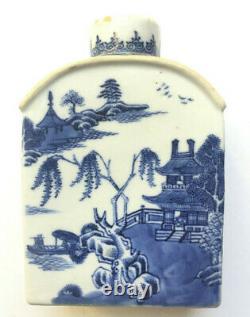 Antiquaires Chinois Export Caddy De Porcelaine, 18 C
