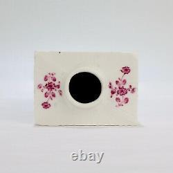 Antique 18ème Siècle Meissen Porcelaine Purple Indian Tea Caddy Pc IDC