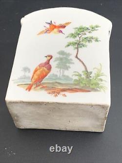 Antique 18ème Siècle Meissen Porcelaine Thé Caddy 3.75