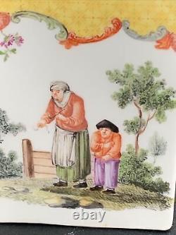 Antique 18ème Siècle Meissen Porcelaine Thé Caddy 4,25